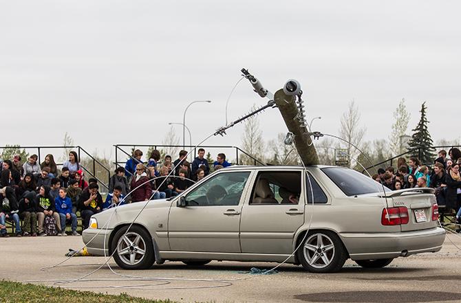 mock accident