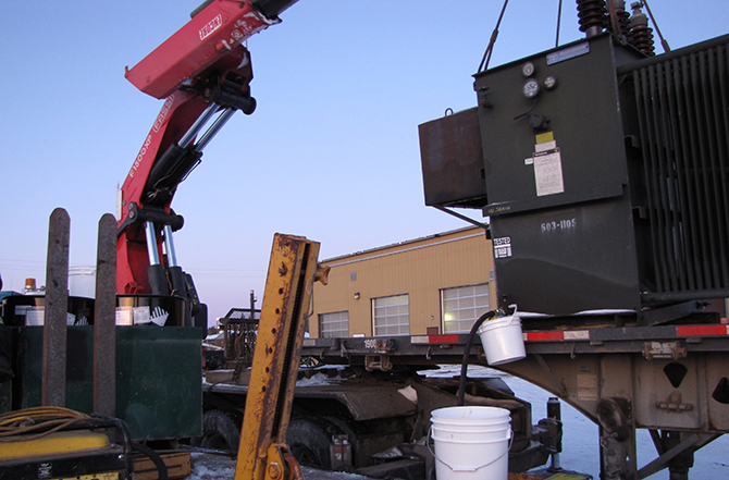 Removing Transformer Oil