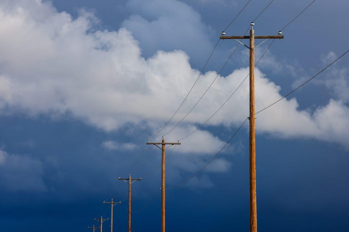 powerlines sky