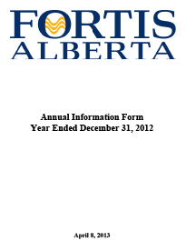 2012 Annual Information Form (AIF)