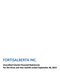 2013 September Financial Statements