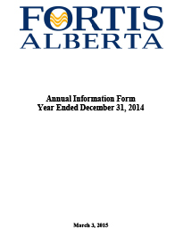 2014 Annual Information Form (AIF)