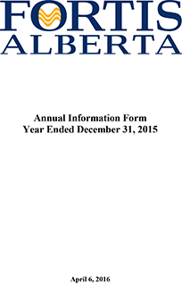 2015 Annual Information Form (AIF)