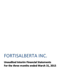 2015 March Financial Statements