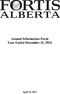 2016 Annual Information Form (AIF)