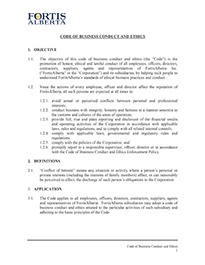Code of Business Conduct Ethics
