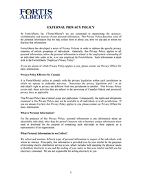 External Privacy Policy