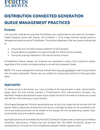 FortisAlberta DER Queue Management Practices