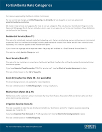 FortisAlberta Rate Category Guide