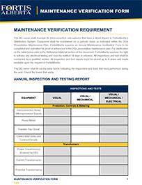 Maintenance Management Form