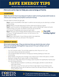 Save Energy Tips