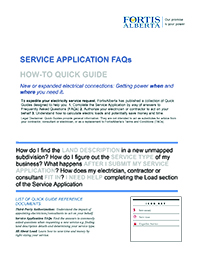 Service application faqs quick guide